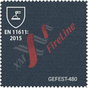 FR fabric Gefest-480 updates EN ISO 11611 to version :2015